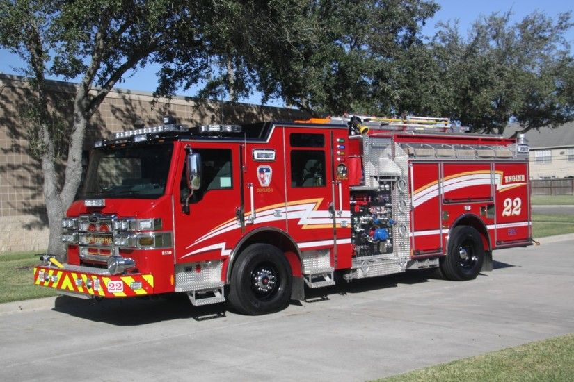 pierce fire truck wallpaper
