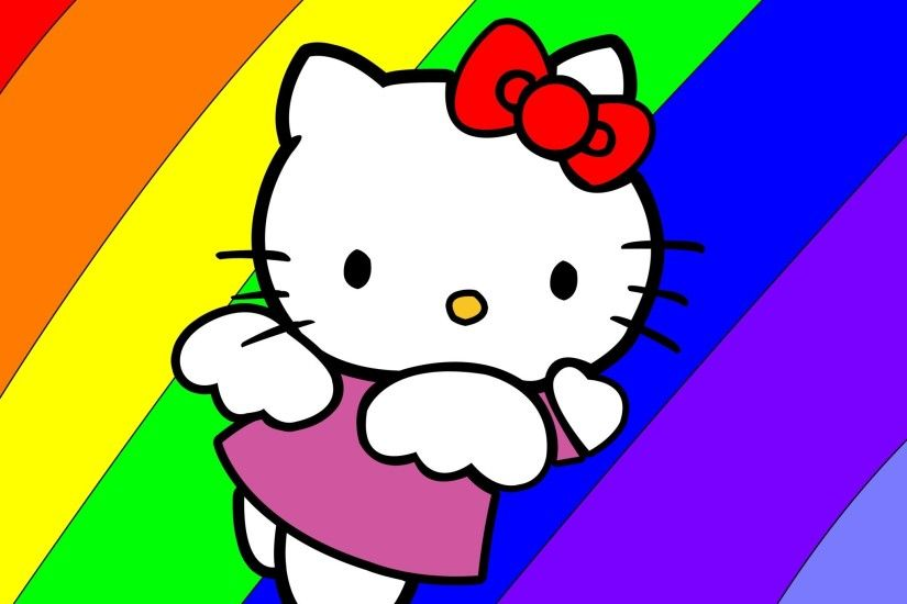 2048x2048 Colorful Hello Kitty - Tap to see more cute hello kitty wallpapers!  - @