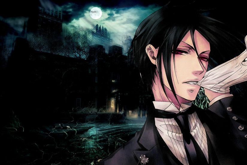 Black butler sebastian michaelis wallpapers HD.