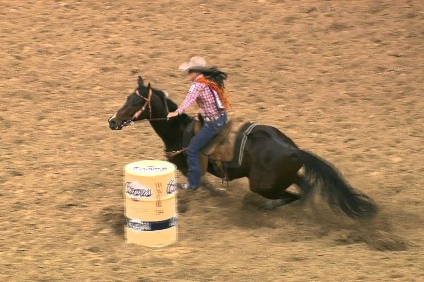 2014 Wrangler NFR Day 3 Barrel Racing Winner Kassidy Dennison - YouTube