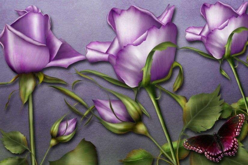 purple rose wallpaper border Wide Wallpaper