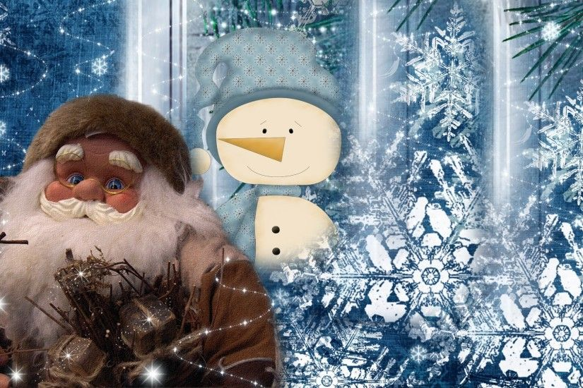 Santa Tag - Winter Friends Firefox Persona Snow Christmas Santa Clause  Snowman Abstract Free HD Desktop
