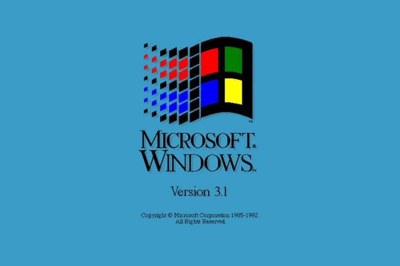 minimalism, Blue Background, Window, Vintage, Pixels, Microsoft, 1985,  Logo, Companies Wallpapers HD / Desktop and Mobile Backgrounds