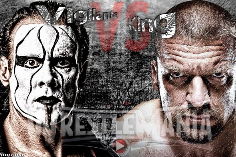 "WrestleMania Wallpaper: ""Vigilante vs King"" – Sting vs HHH at ."