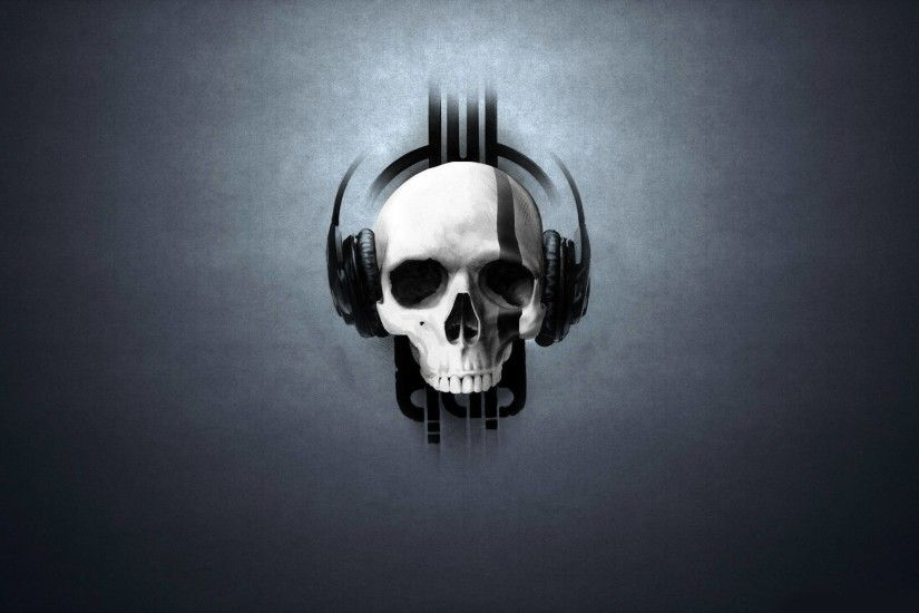 3D : Skull Headphones Wallpaper 1600x2560px Skull Wallpaper. Skull .