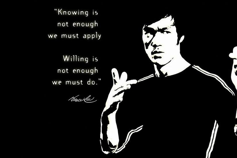 ... Wallpaper Hd 1080p Black And White Quotes Bruce Lee High Resolution  Full Size Ncaa Football Doug ...