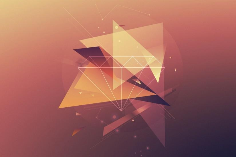 2560x1600 Wallpaper triangles, lines, faded, background