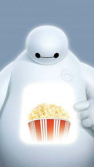 Big Hero 6 Baymax Popcorn Projection #iPhone #6 #plus #wallpaper