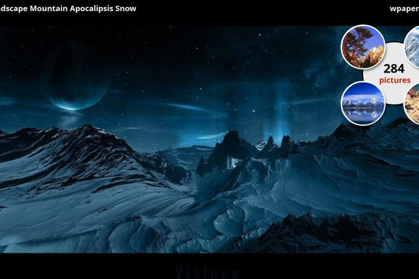 CGI Landscape Mountain Apocalipsis Snow wallpaper HD 2016 .