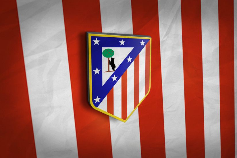 La liga · Atletico Madrid 3D Logo Wallpaper