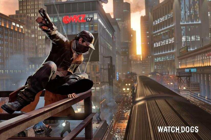 Watch Dogs Jumping On Train Wallpapers HD