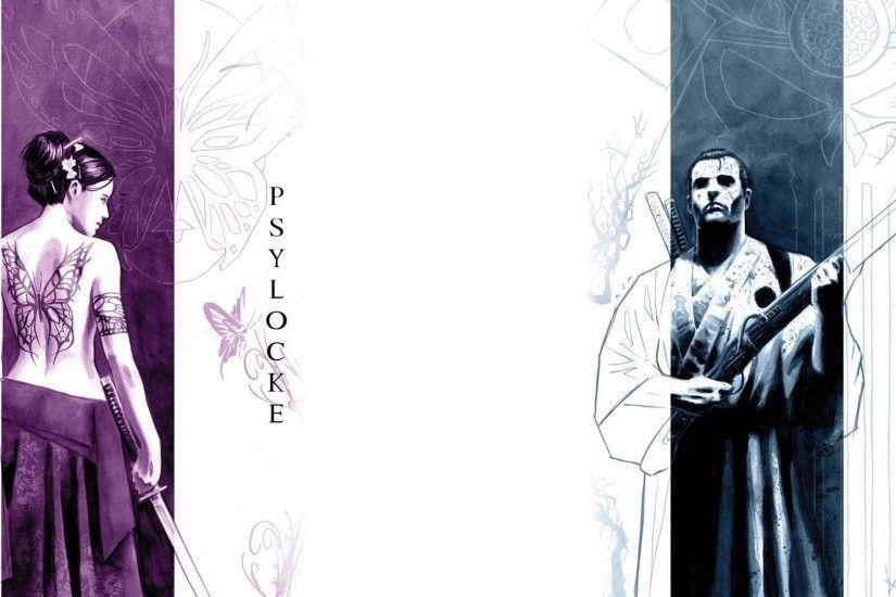 Comics - Psylocke Punisher Wallpaper
