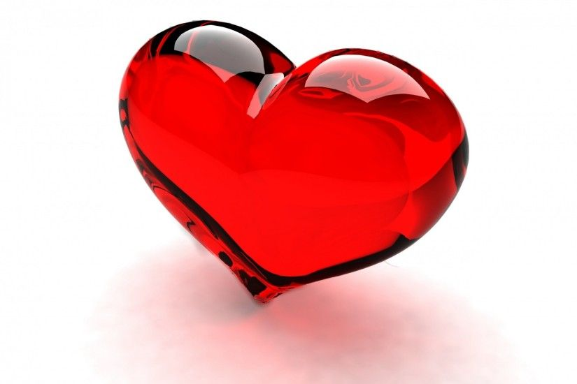 Red Glossy Heart background 1920x1200.