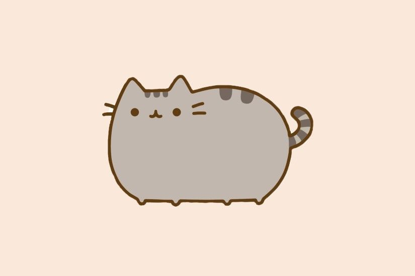 General 1920x1080 pusheen cat minimalism artwork