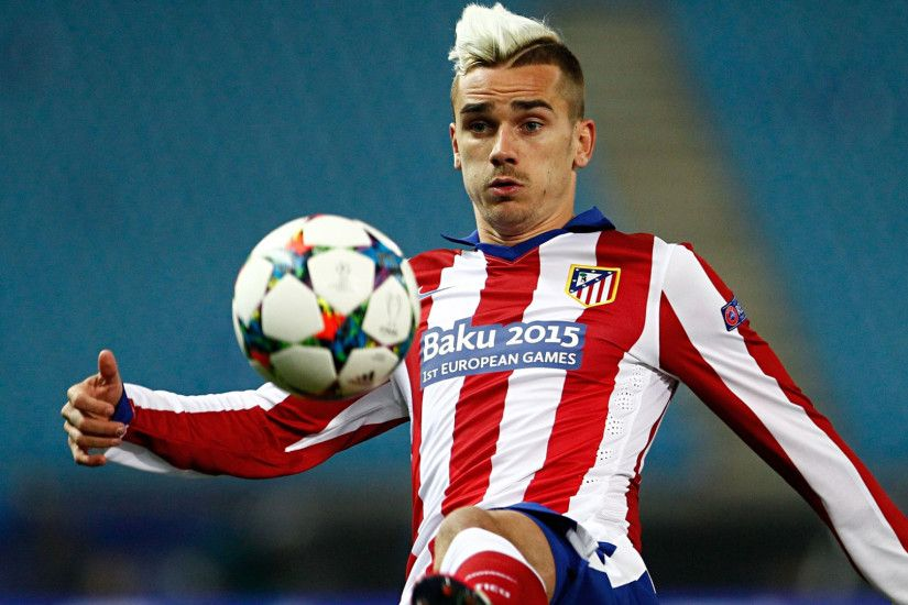 Preview wallpaper antoine griezmann, football player, atletico madrid,  uefa, galatasaray 1920x1080