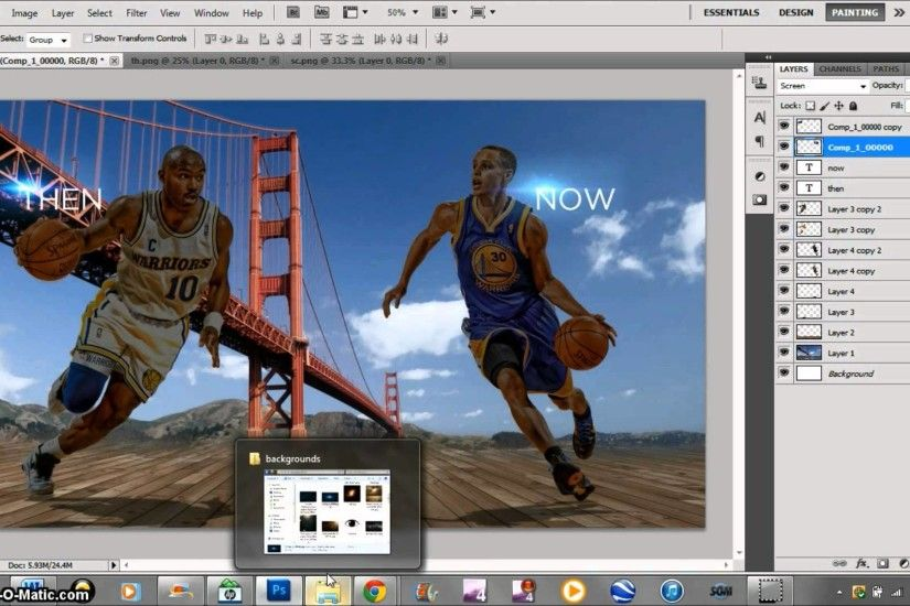 Golden State Warriors wallpaper speedart (Hardaway vs. Curry 1080p) -  YouTube