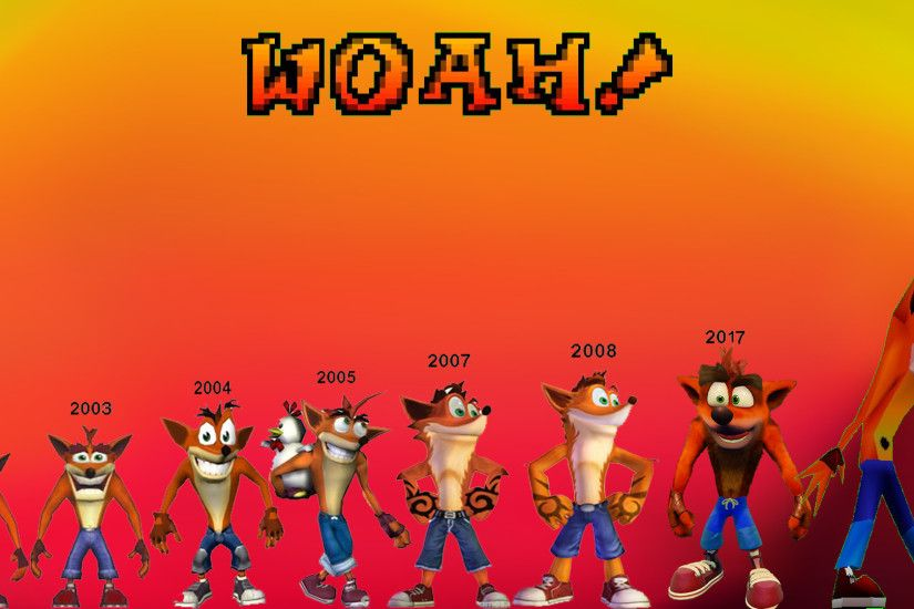 Official Crash Bandicoot design evolution, by: Naugthydog ...