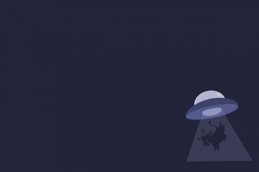 Minimalistic gentoo cows ufo abduction alien wallpaper