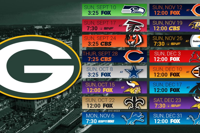 Green Bay Packers 2017 schedule city football logo wallpaper free pc  desktop computer ...