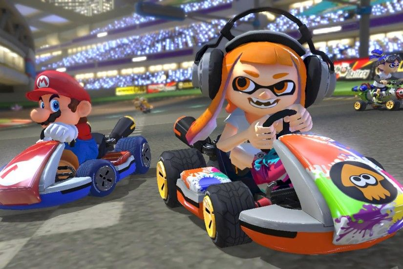 Mario Kart 8 Deluxe Multiplayer 1920x1080 wallpaper