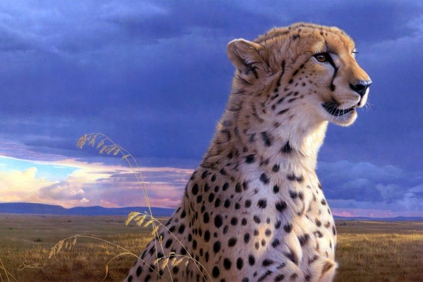 Charlotte Child: Cheetah, WP-272:2930x1710