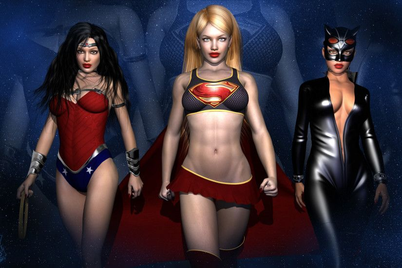 DC Girls Wallpaper by WiL3D DC Girls Wallpaper by WiL3D
