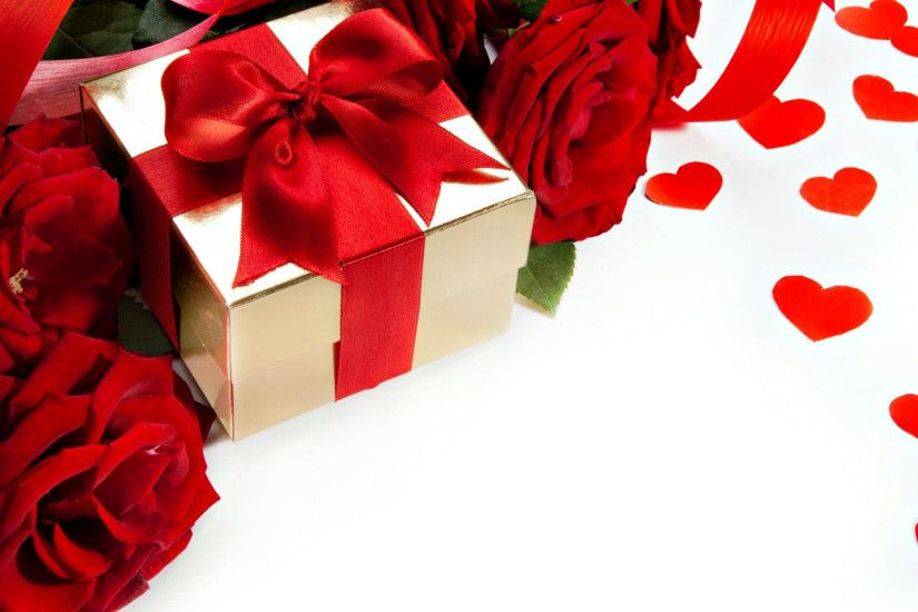 3840x2160 Wallpaper roses, flowers, gift, ribbon, heart, love