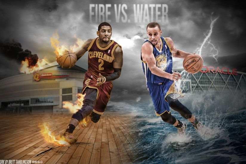 Kyrie Irving and Stephen Curry Wallpaper by btamdesigns.
