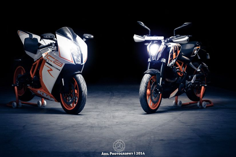 ... 1190 RC8 and KTM 390 Duke HD Wallpaper 1920x1200
