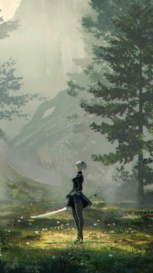 download free nier automata wallpaper 1080x1920