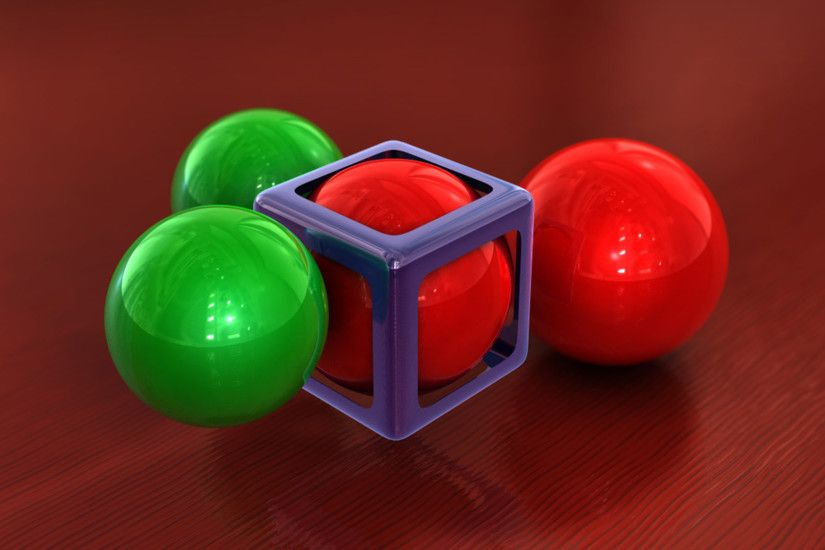 Spheres and cube wallpaper 1920x1080 jpg