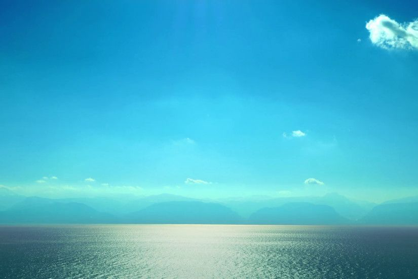 Beautiful Mediterranean simple scenery clear blue sky water ripple  reflection serene sea seascape Greece sunny day
