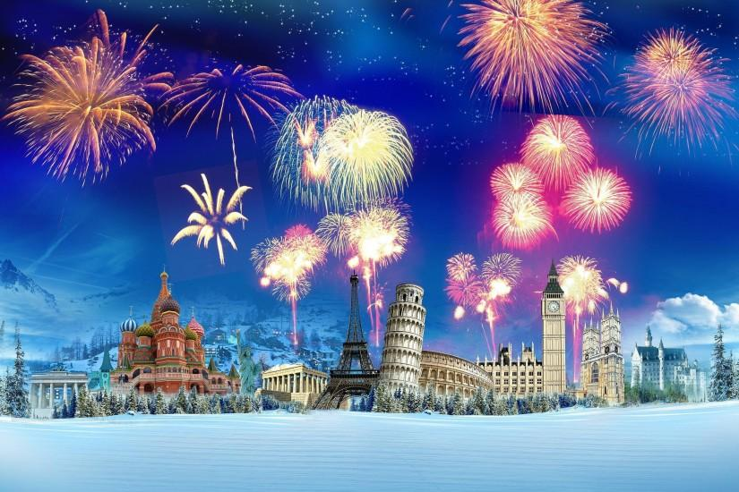 New Year Fireworks wallpaper - 1063298