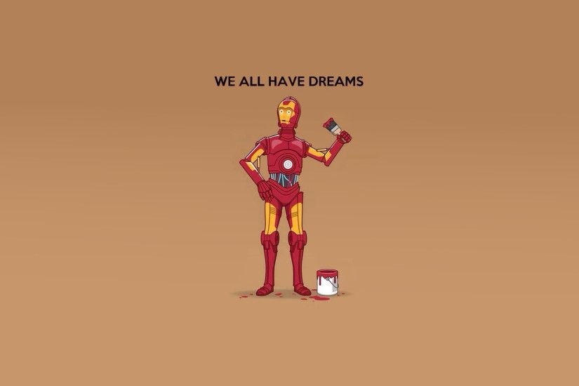 Humor - Star Wars C-3PO Iron Man Wallpaper