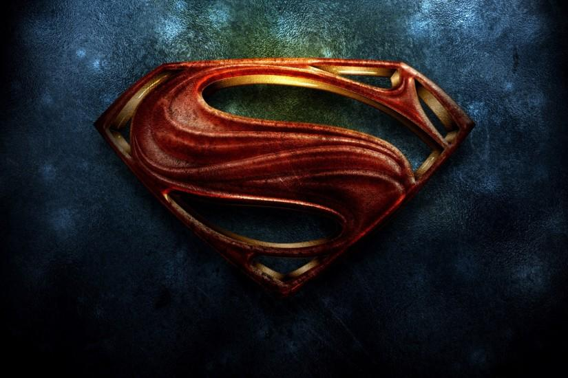 Superman Logo HD Wallpaper.