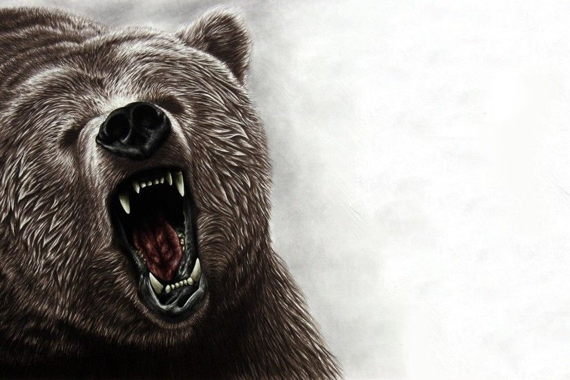 Grizzly bear roar art - photo#9