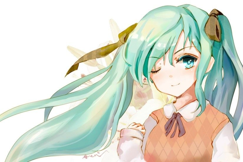 1920x1080 Wallpaper hatsune miku, vocaloid, anime, vest, girl