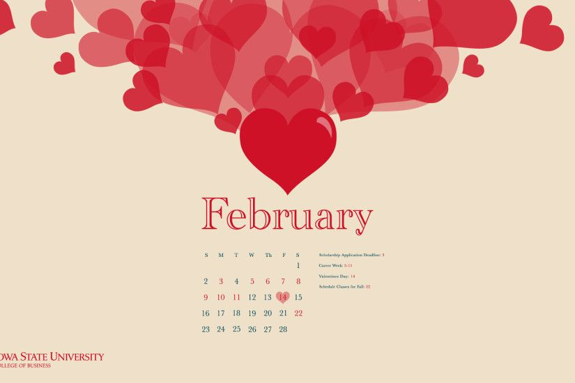 DESKTOP WALLPAPER CALENDAR FEBRUARY 2014 | Design Is Yay !