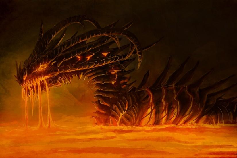 Dragon Fire HD Background Wallpapers