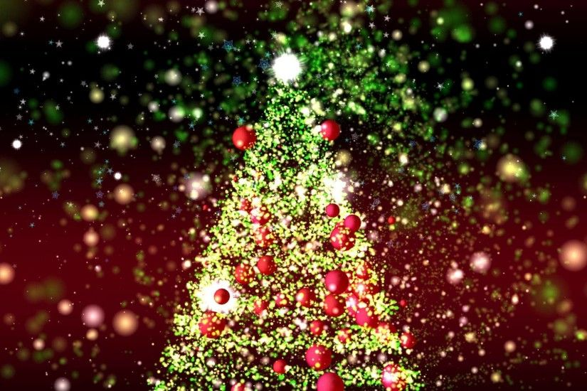 4K GREAT CHRISTMAS TREE ANIMATION ULTRA-HD PARTICLES BACKGROUND AA VFX -  YouTube