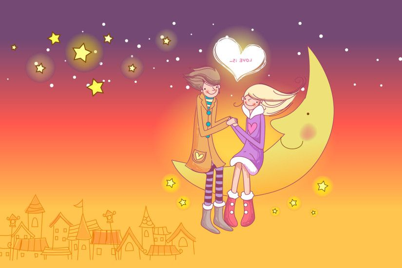 Beautiful Paintings Cute Couple Wall Ppr Hd 35 Happy Valentine's Day Hd  Wallpapers, Backgrounds &