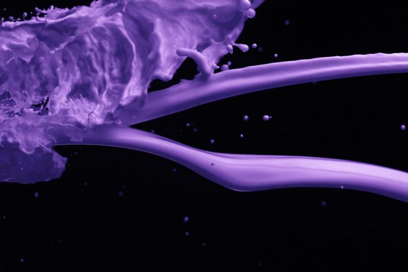 Subscription Library Purple paint pour and splash on black background, Slow  Motion