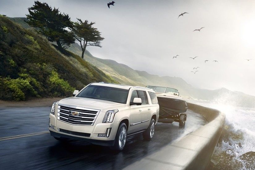 white 2015 Cadillac escalade HD wallpapers