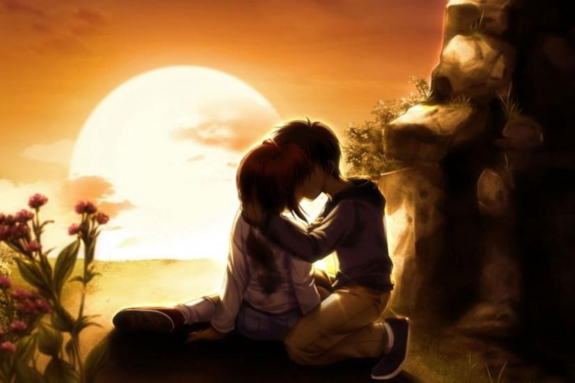 3d love couple kiss wallpaper