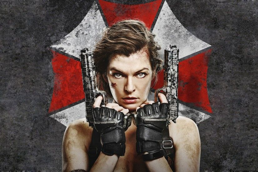 Wallpaper Celebrities Resident Evil - Movies Milla Jovovich Pistols Movies Resident  Evil: The Final Chapter