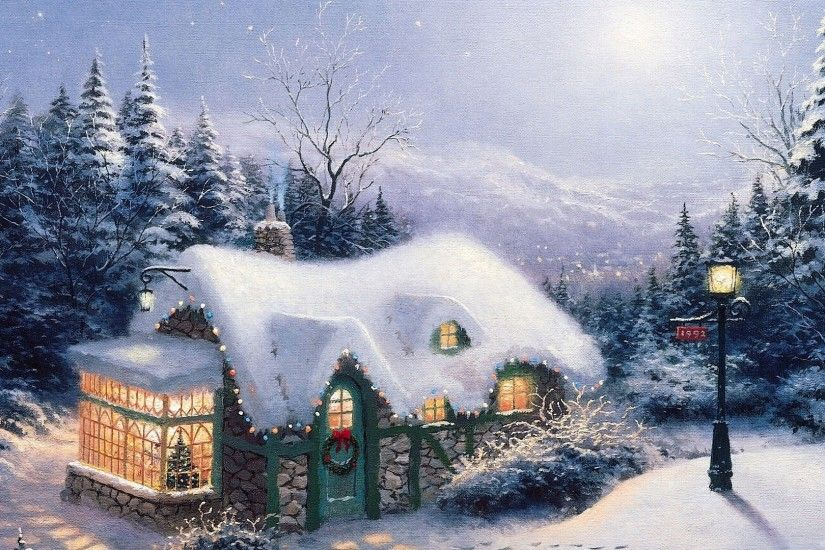 Christmas snow paintings and wallpapers – Christmas Wishes Greetings And  Jokes