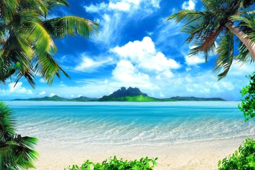 Beautiful nature wallpaper of beach