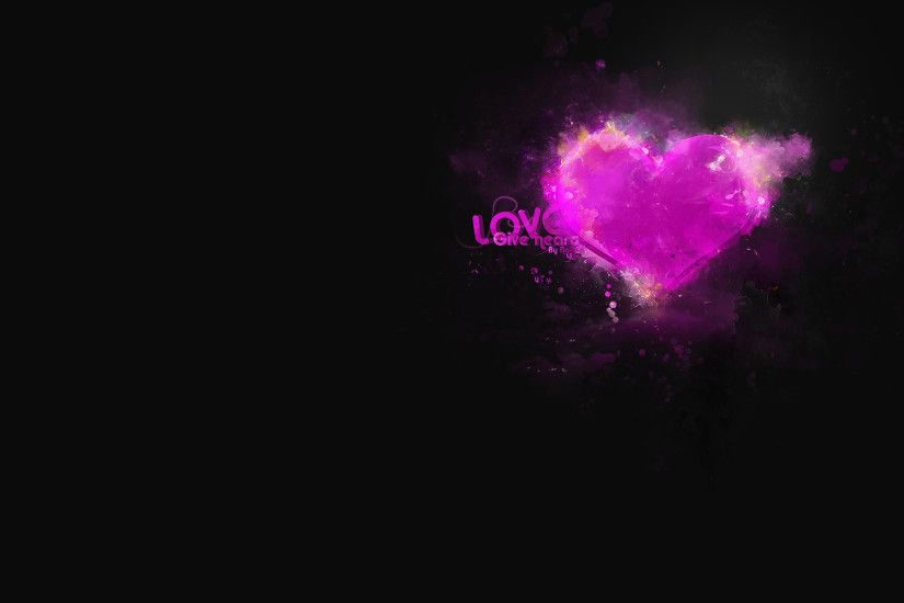 Love Background Black - HDWallie - HD Wallpapers