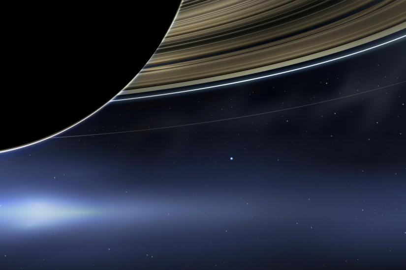 Earth From Saturn Cassini My vector recreation, as a
