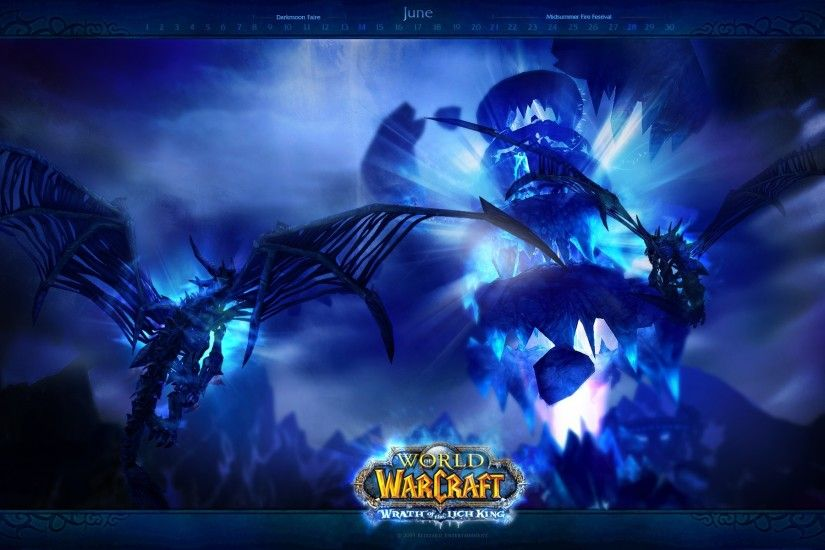 World Of Warcraft: Wrath Of The Lich King, Dragon, Blue Wallpaper HD